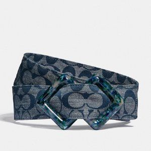 $119 COACH Diamond Slider Buckle Belt, 45mm